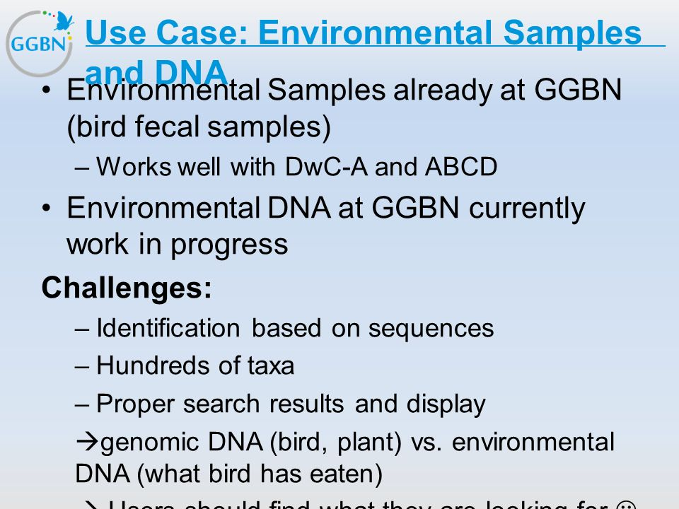 Use Case: Environmental Samples and DNA