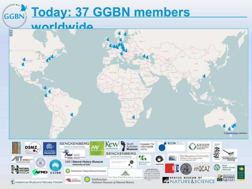Today: 37 GGBN members worldwide