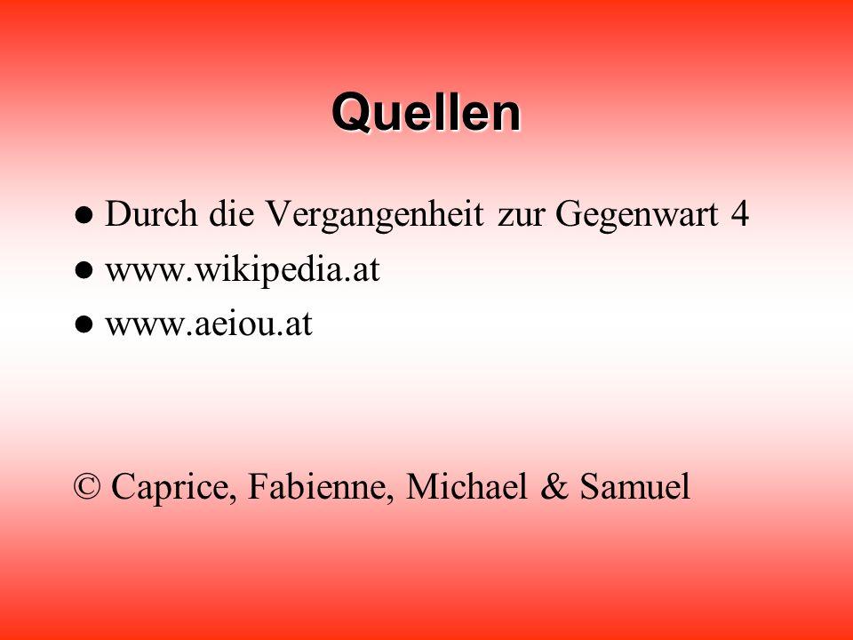 Quellen Durch die Vergangenheit zur Gegenwart 4 www.wikipedia.at