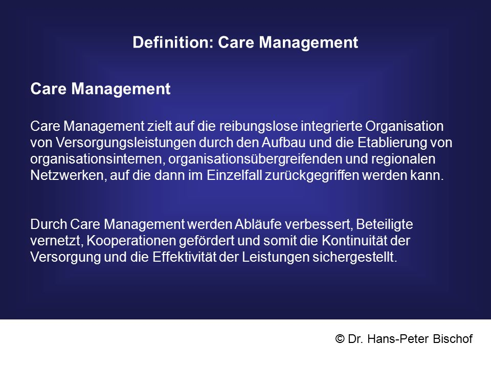 Definition: Care Management
