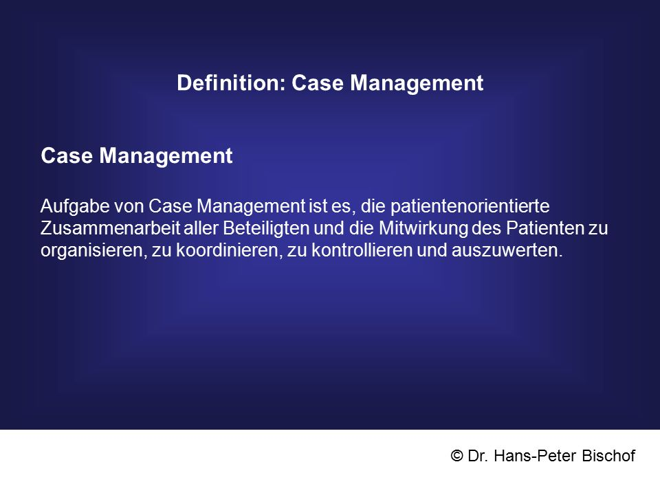 Definition: Case Management