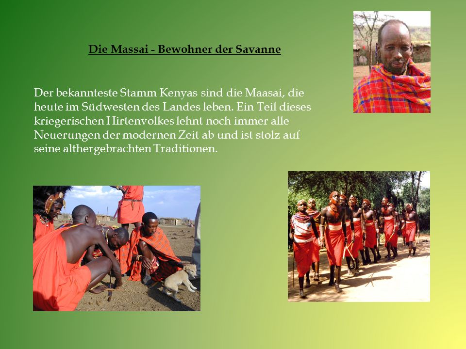 Die Massai - Bewohner der Savanne