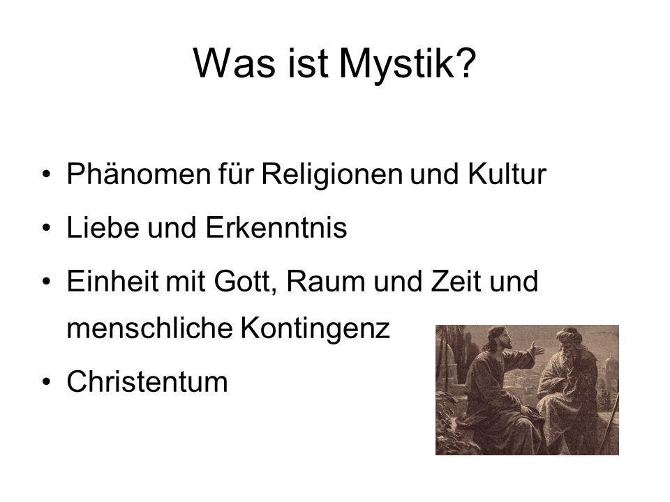 Was ist Mystik Phänomen für Religionen und Kultur