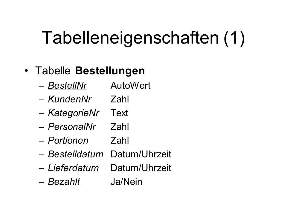 Tabelleneigenschaften (1)