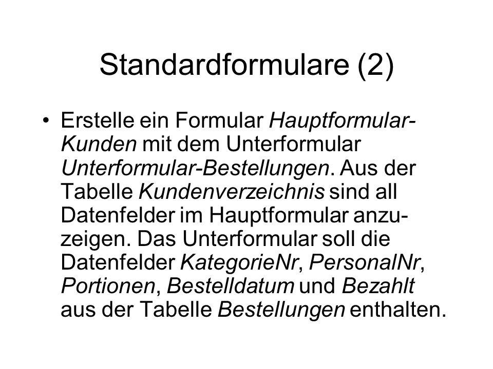Standardformulare (2)
