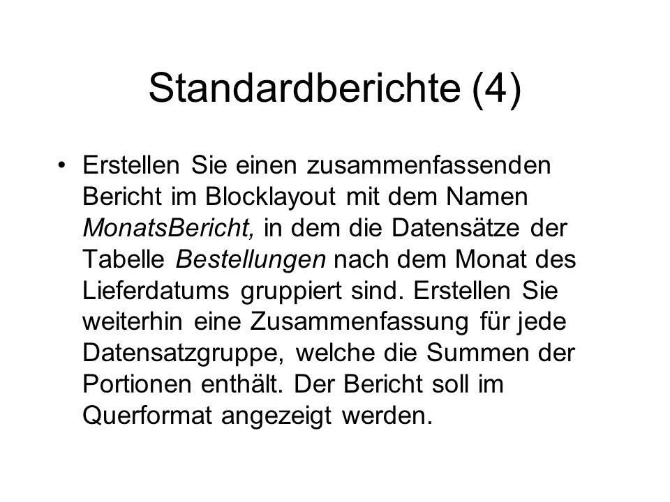 Standardberichte (4)