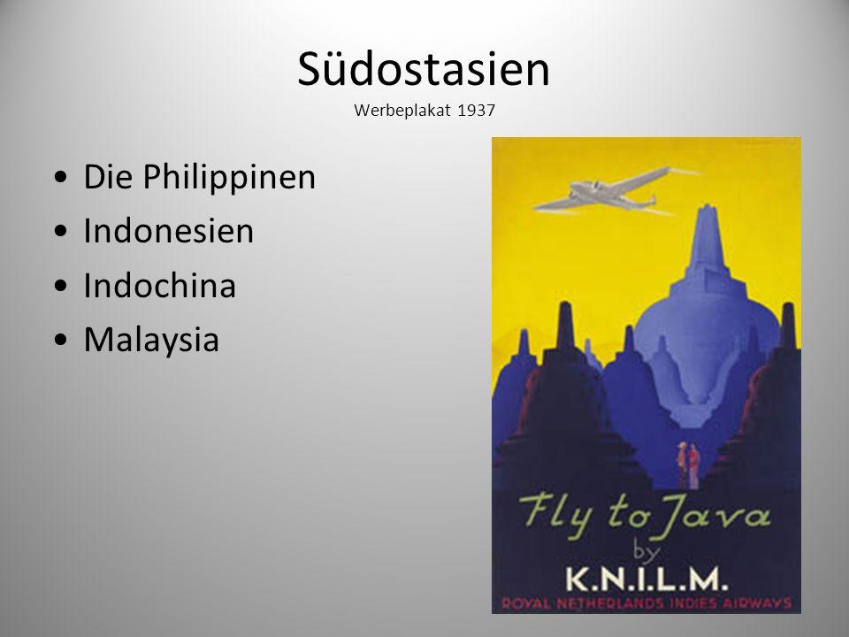 Südostasien Werbeplakat 1937