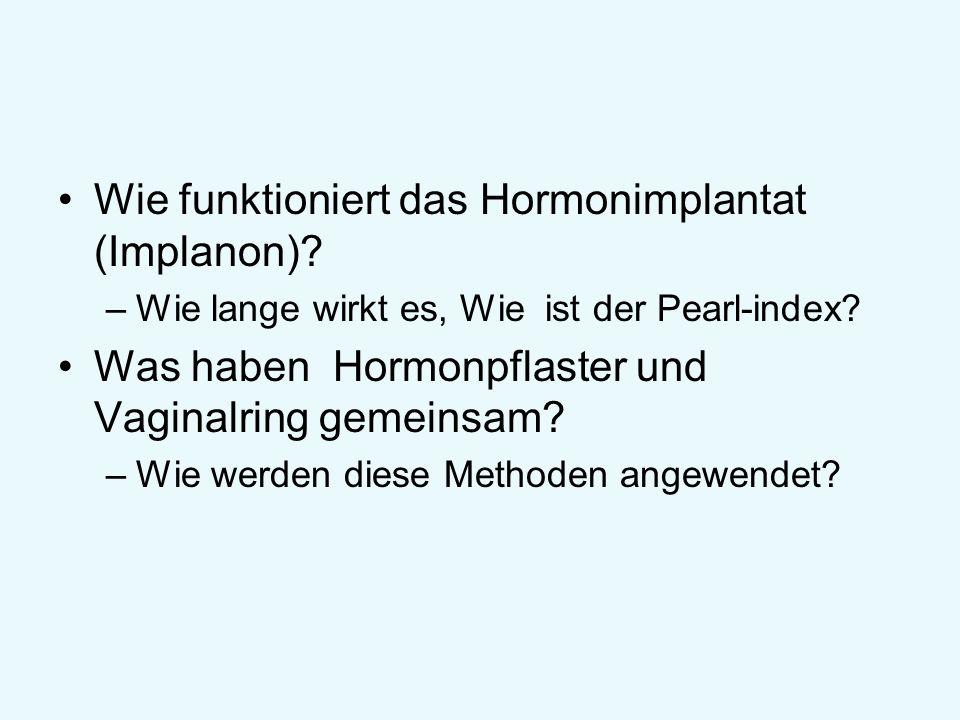 Wie funktioniert das Hormonimplantat (Implanon)