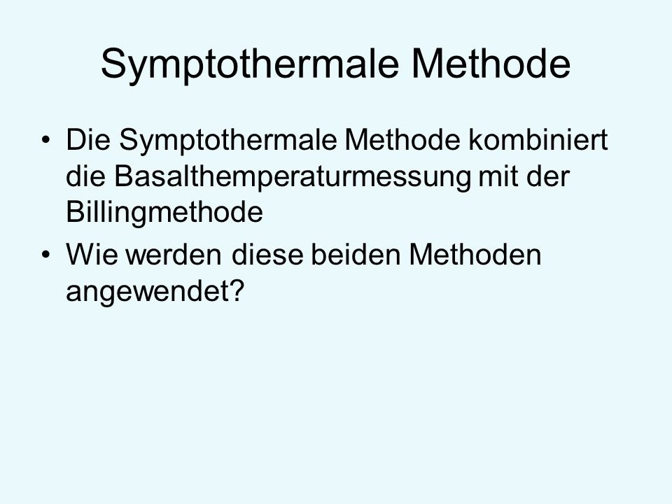 Symptothermale Methode