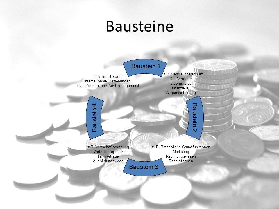 Bausteine Baustein 1 Baustein 4 Baustein 2 Baustein 3