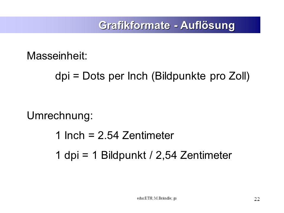 Grafikformate - Auflösung