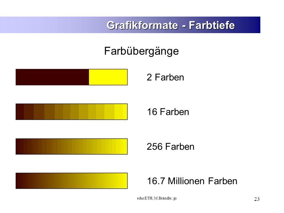Grafikformate - Farbtiefe