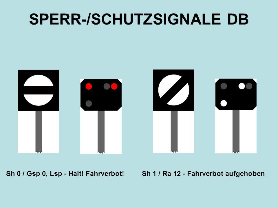 SPERR-/SCHUTZSIGNALE DB