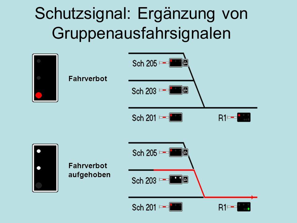 Schutzsignal: Ergänzung von Gruppenausfahrsignalen