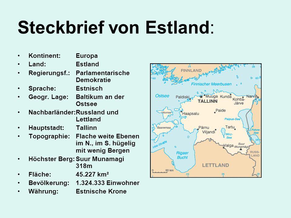 Steckbrief von Estland:
