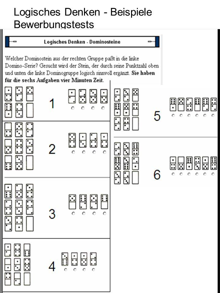 Logisches Denken - Beispiele Bewerbungstests