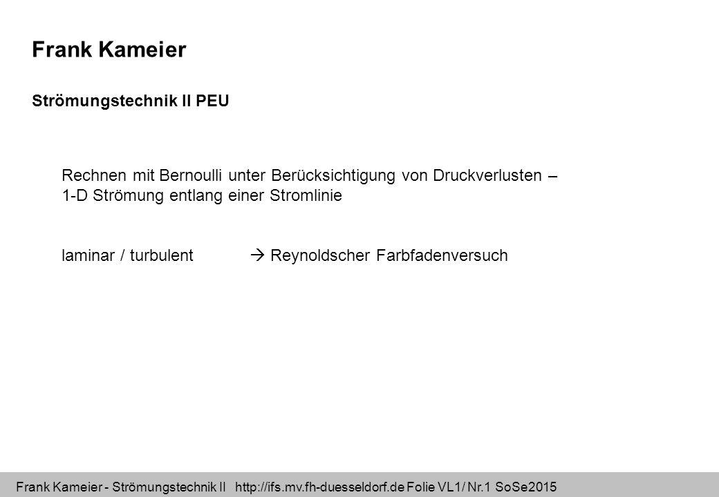 Frank Kameier Strömungstechnik II PEU