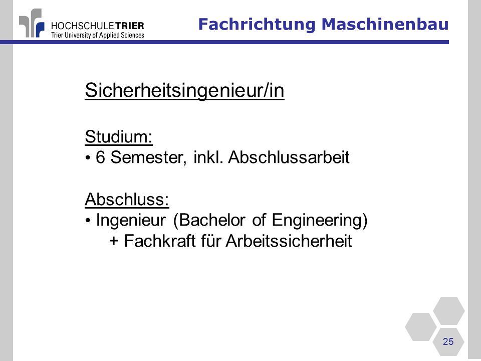 Sicherheitsingenieur/in