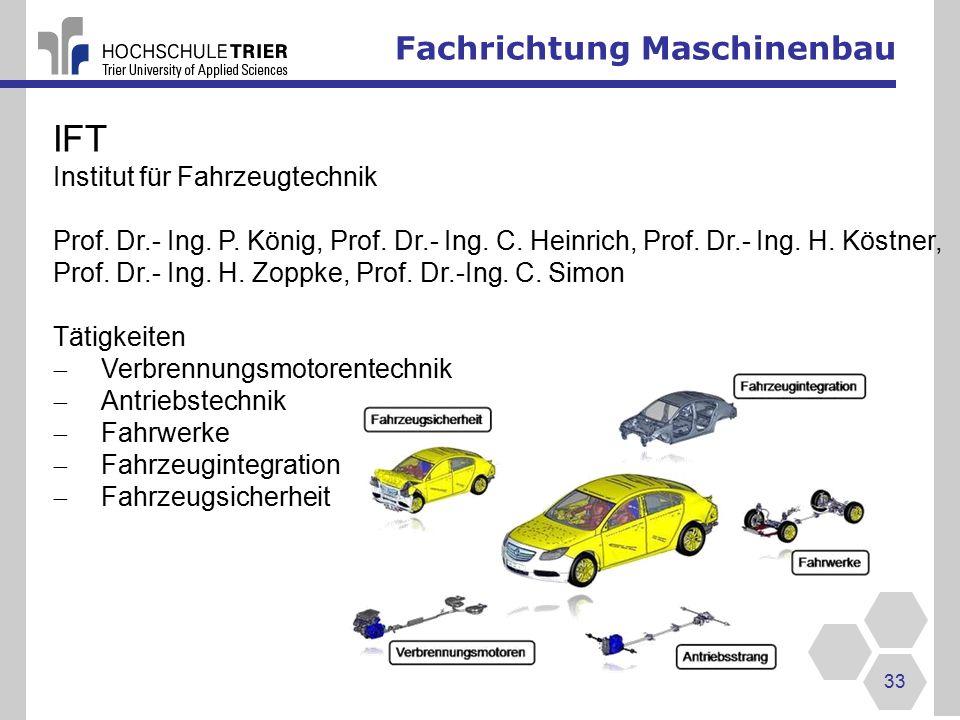 IFT Fachrichtung Maschinenbau Institut für Fahrzeugtechnik