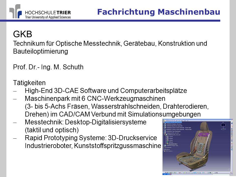 GKB Fachrichtung Maschinenbau