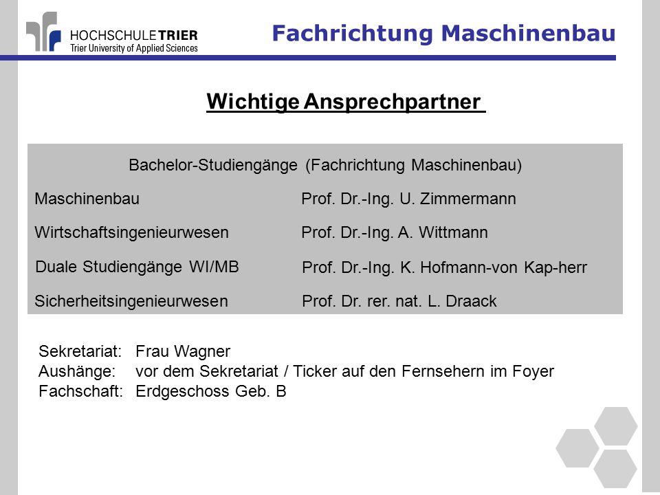 Bachelor-Studiengänge (Fachrichtung Maschinenbau)
