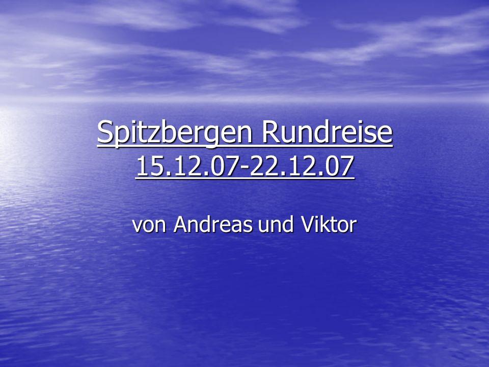 Spitzbergen Rundreise 15.12.07-22.12.07