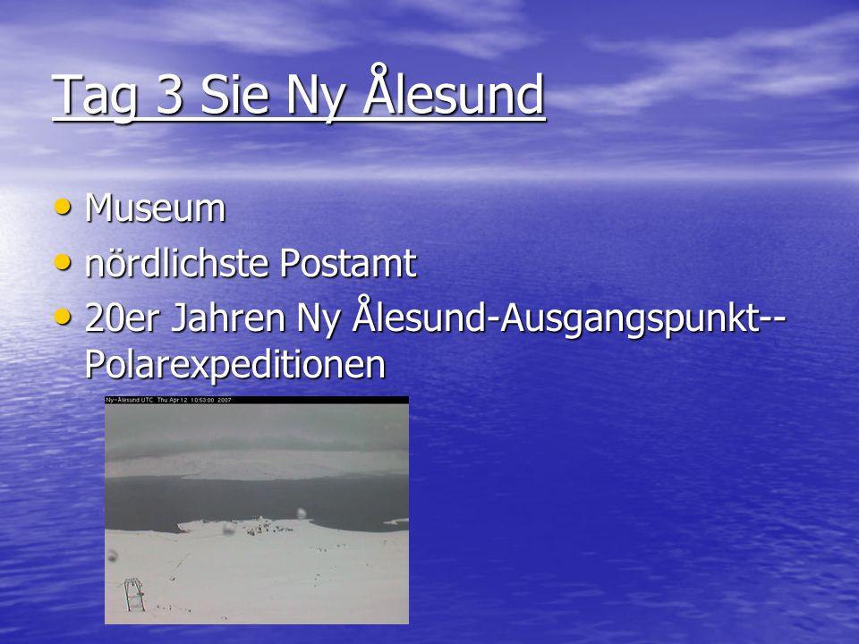 Tag 3 Sie Ny Ålesund Museum nördlichste Postamt