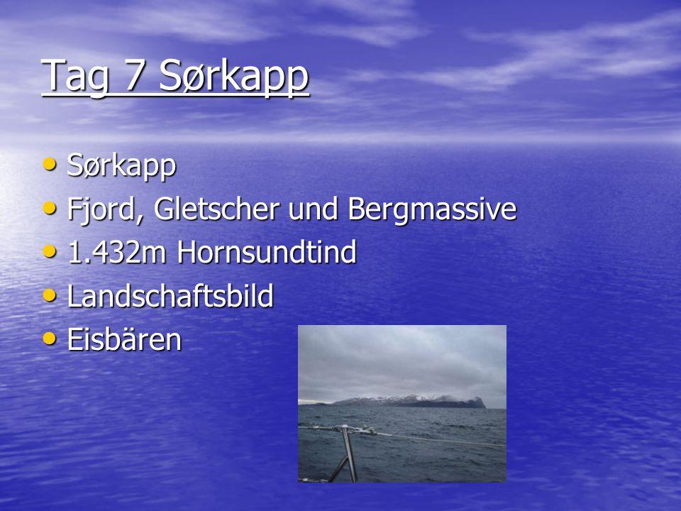Tag 7 Sørkapp Sørkapp Fjord, Gletscher und Bergmassive