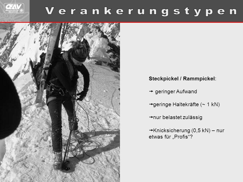 V e r a n k e r u n g s t y p e n Steckpickel / Rammpickel: