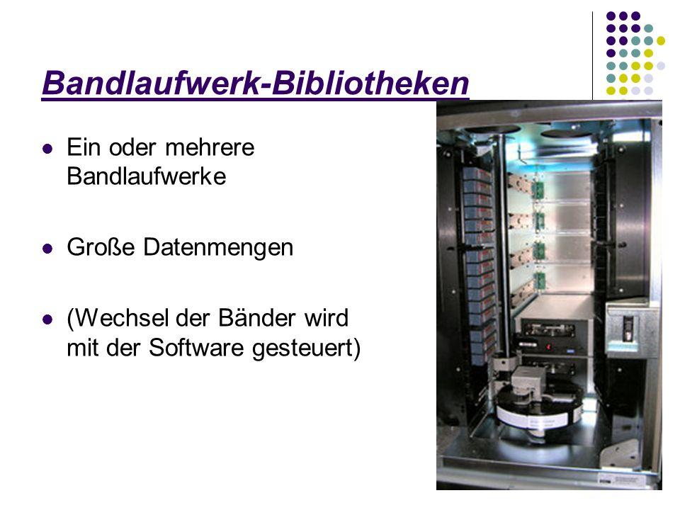 Bandlaufwerk-Bibliotheken