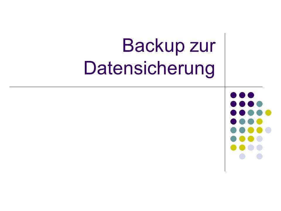 Backup zur Datensicherung