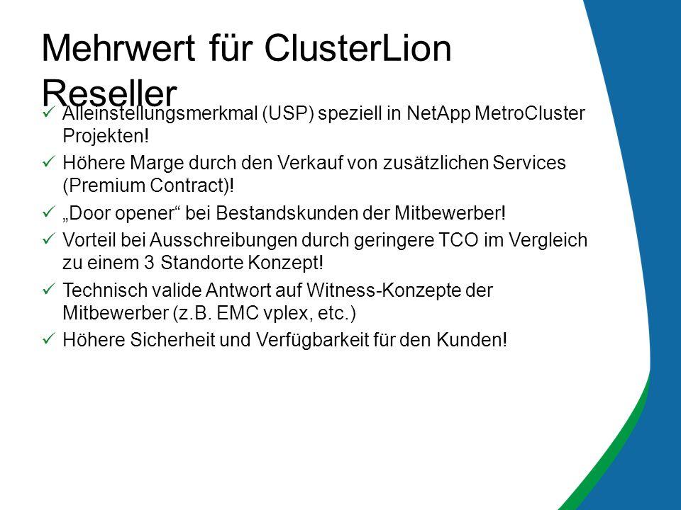 Mehrwert für ClusterLion Reseller