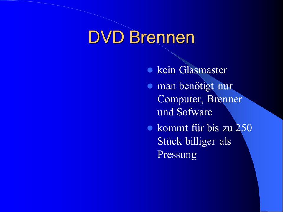 DVD Brennen kein Glasmaster