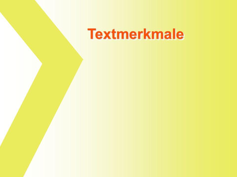 Textmerkmale
