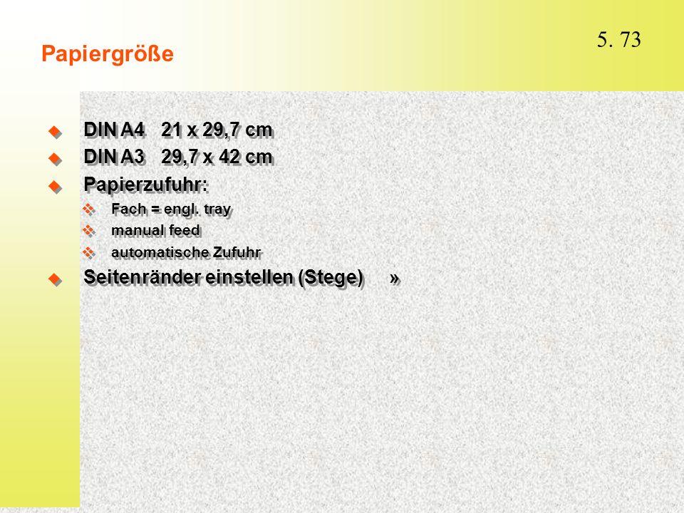 Papiergröße DIN A4 21 x 29,7 cm DIN A3 29,7 x 42 cm Papierzufuhr: