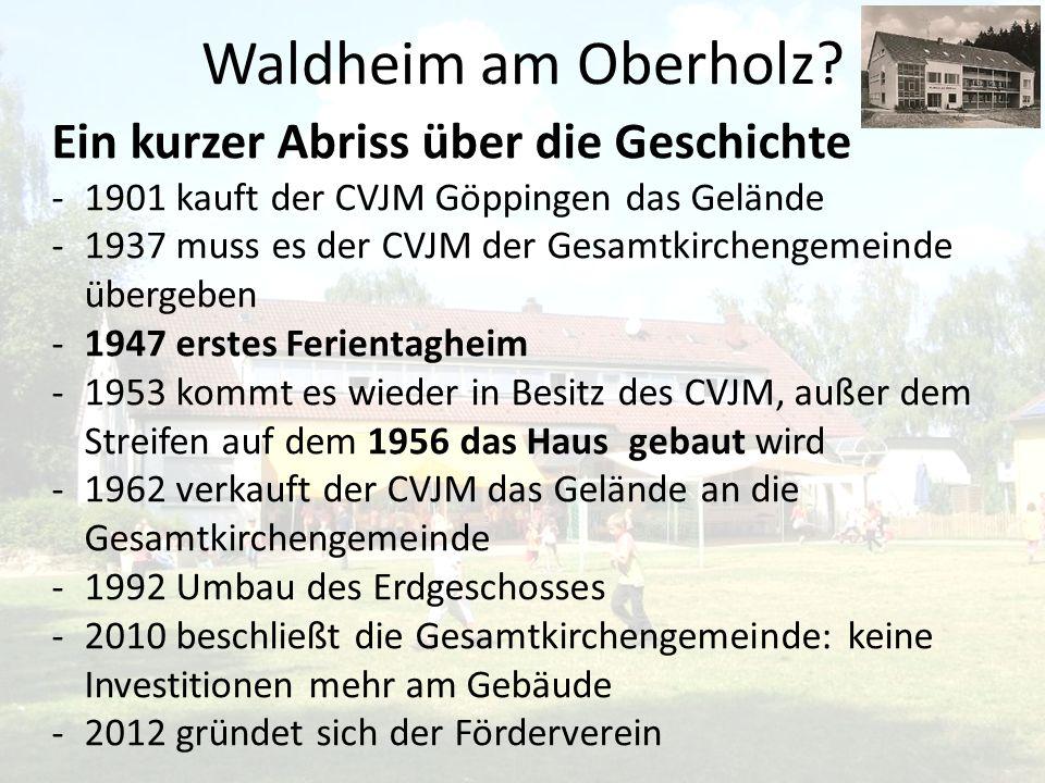 Waldheim am Oberholz Ein kurzer Abriss über die Geschichte