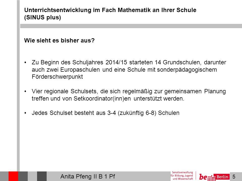 Unterrichtsentwicklung im Fach Mathematik an Ihrer Schule (SINUS plus)