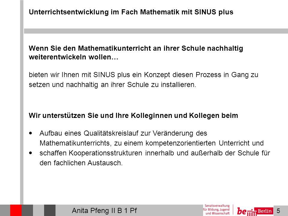 Unterrichtsentwicklung im Fach Mathematik mit SINUS plus