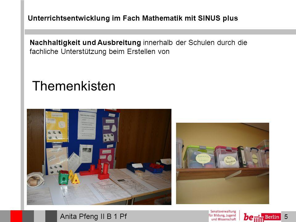 Themenkisten Unterrichtsentwicklung im Fach Mathematik mit SINUS plus