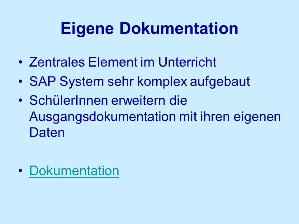 Eigene Dokumentation Zentrales Element im Unterricht
