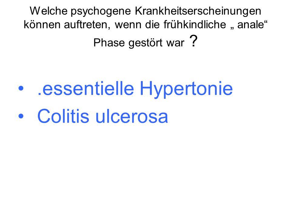 .essentielle Hypertonie Colitis ulcerosa