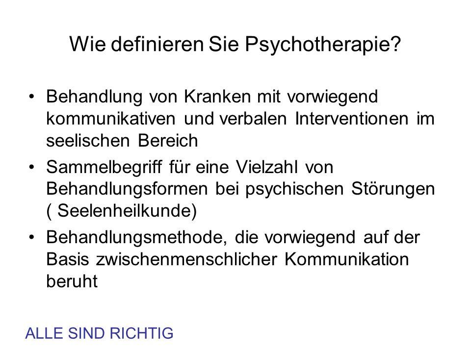 Wie definieren Sie Psychotherapie