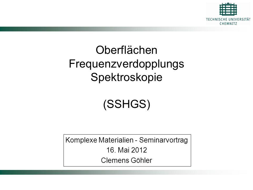 Oberflächen Frequenzverdopplungs Spektroskopie (SSHGS)