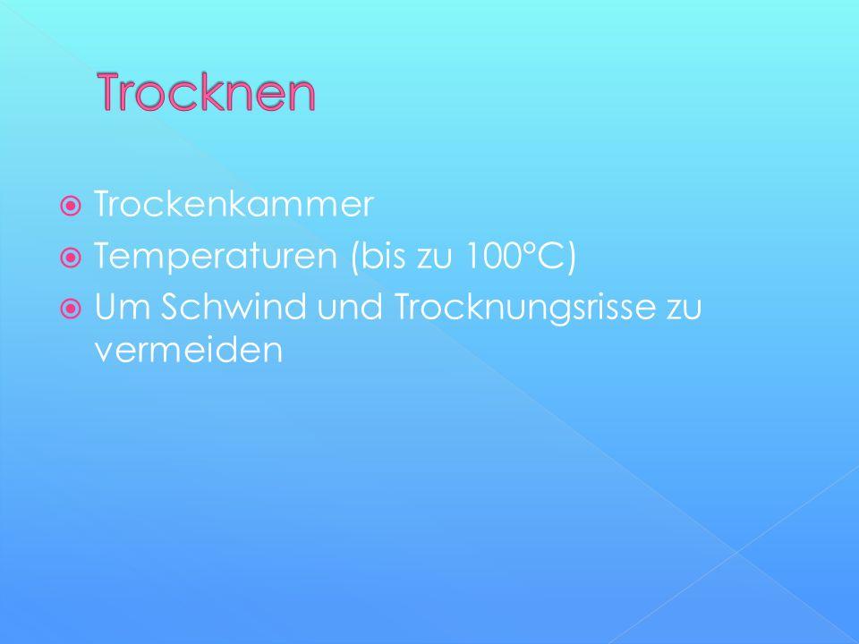 Trocknen Trockenkammer Temperaturen (bis zu 100°C)