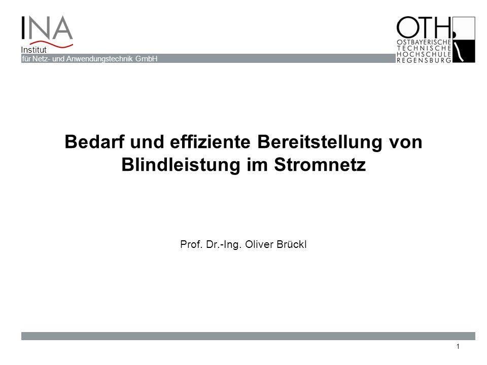 Bedarf und effiziente Bereitstellung von Blindleistung im Stromnetz