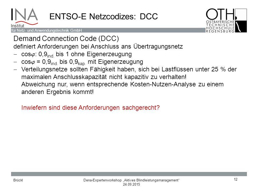 ENTSO-E Netzcodizes: DCC