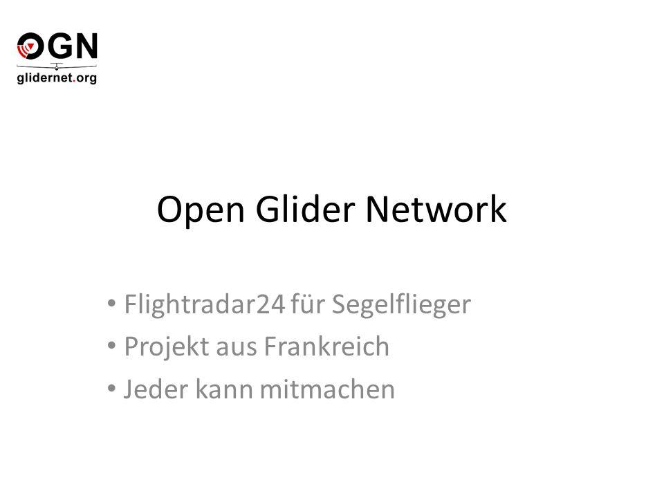 Open Glider Network Flightradar24 für Segelflieger