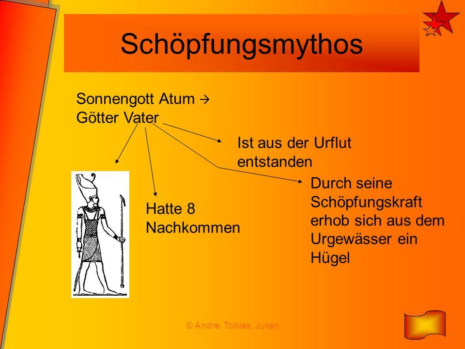 Schöpfungsmythos Sonnengott Atum  Götter Vater