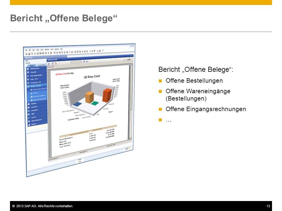 "Bericht ""Offene Belege"