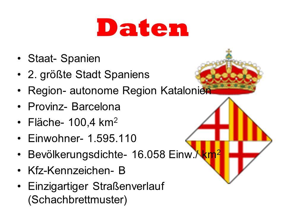 Daten Staat- Spanien 2. größte Stadt Spaniens